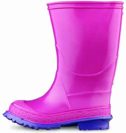 Size 1 10 Height OnGuard Industries Rose//Purple 10 Height ONGUARD 07780 PVC Scamp Youth Boots with Slip Resistant Outsole