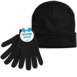 1 Mens Hat Gloves Set Winter Ski Skully Beanie Cap Snow Cold