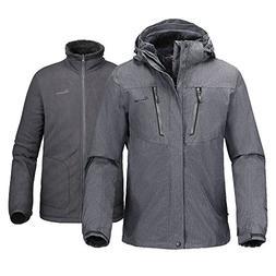 OutdoorMaster Men's 3-in-1 Ski Jacket - Winter Jacket Set wi