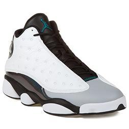 Jordan Mens 13 RETRO White/Black/Wolf Grey/Tropical Teal 414