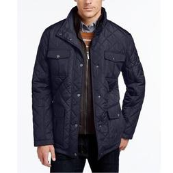 $195 London Fog Mens Large Diamond Quilted Jacket Barn Navy