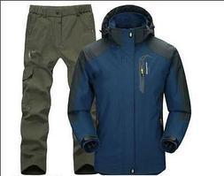 2016 Mens Waterproof Coat Outdoor ski suit Jacket Pants snow