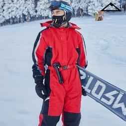 2019 Hoodie Snow Jumpsuit Women Sports Winter Suit <font><b>