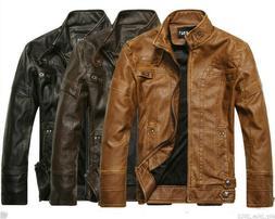 2019 Men's Genuine Lambskin Leather Jacket Slim Fit Biker Mo