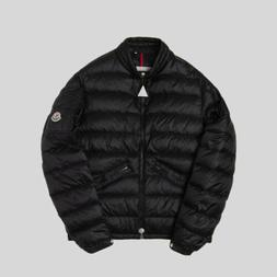 $2115 Moncler Mens Black Agay Full Zip Puffer Quilted Down J