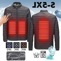3-grar℃ Men USB Electric Heated Down Jacket Winter Heating