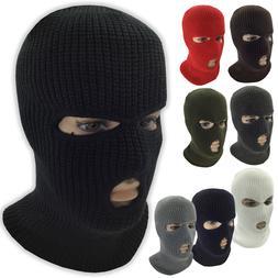 3 Hole Face Mask Ski Mask Winter Cap Balaclava Hood Army Tac