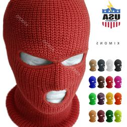 3 Hole Ski Mask Full Face Winter Cap Balaclava Hood Army Tac