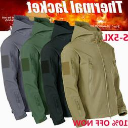 3 in1 Waterproof Tactical Soft Shell Mens Jacket Coat Army M