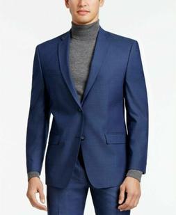 $400 Andrew Marc Men's Stretch Classic-Fit Blue Neat Suit Ja