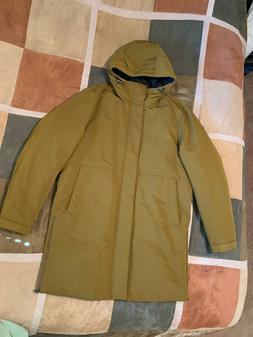 $795 Vince down filled parka hooded coat gold jacket M mens