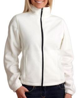 Ultraclub 8481 Ladies FullZip Fleece - Winter White - M