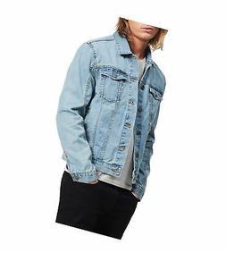 Calvin Klein Men's Denim Trucket Jacket, Light Wash, Medium