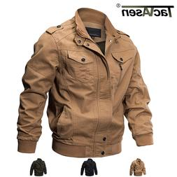TACVASEN Mens MA-1 Pilot Bomber Jacket Coats Air Force One M