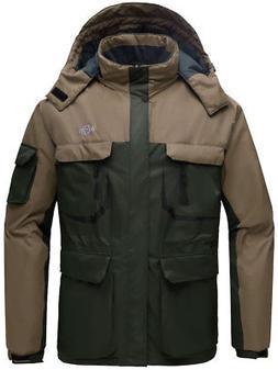 Wantdo Men's Hooded Mountain Waterproof Rain Jacket Outdoor