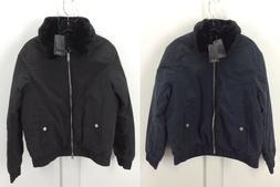 A X Armani Exchange Mens Eco Fur Lined Bomber Blouson Jacket