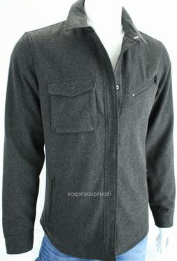 Armani Exchange A|X Mens Snap Front Collared Wool Logo Jacke