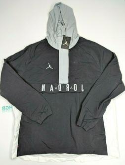 Nike Air Jordan Wings Anorak Jacket Mens Black Grey Hood Tra