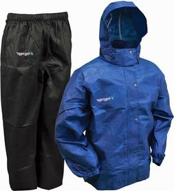 FROGG TOGGS All Sport Rain Suit, Men's Large in Royal Blue/B