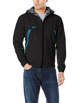 Outdoor Research Men's Allout Hooded Jacket, Black/Hydro, La