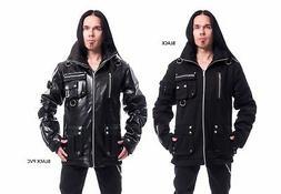 Chemical Black Arsen Jacket Black Mens Goth Emo Punk