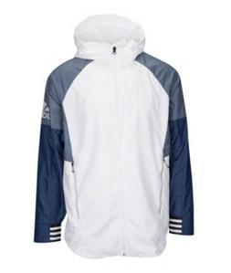 Adidas Athletics ID Woven Jacket White/Blue XXL Size Men's