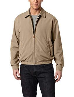 London Fog Lightweight Microfiber Golf Jacket L, Camel