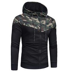 haoricu Autumn Winter Men Teens Slim Fit Hooded Sweatshirt L