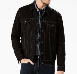 Big & Tall Levi's Men's Lamar Stretch Black Trucker Jacket -