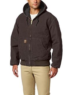 Carhartt Men's Big & Tall Quilted Flannel Lined Sandstone Ac