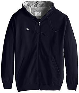Champion Men's Big-Tall Full Zip Fleece Hoodie, Navy, 4X/Tal
