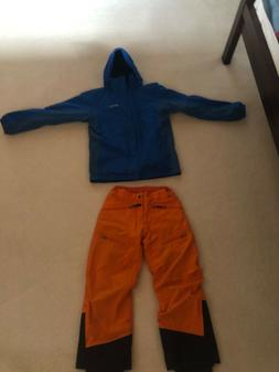 Blue Marmot jacket with removable fleece and orange Marmot s