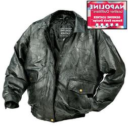 BOMBER Rock Design Genuine Leather Jacket/Coat