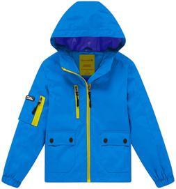 Wantdo Boy's Lightweight Hooded Rain Jacket Waterproof Outwe