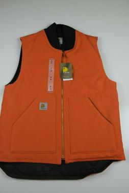 Brand New Carhartt Mens Arctic Quilt Lined Duck Vest Blaze O
