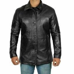 Bristol Men's Fashion Black Genuine Lambskin Leather Jacke