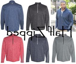 Adidas Brushed Terry Heather Quarter-Zip Pullover Shirt A284