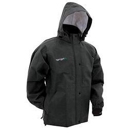 Frogg Toggs Bull Frogg Rain Jacket, Black, Size Medium