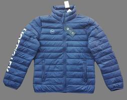 Hollister by Abercrombie Mens Puffer Jacket Navy Color Coat