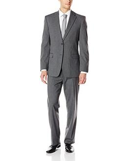 Tommy Hilfiger Men's Cashman Plaid 2 Button Side Vent Suit w