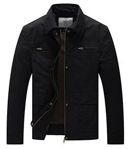 WenVen Men's Casual Outdoor Sportswear Military Jacket