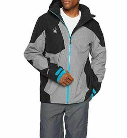 Spyder Men's Chambers Gore-tex Ski Jacket, Tech Flannel/Blac