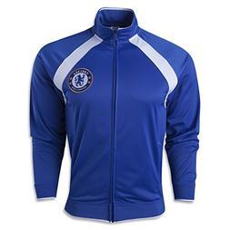 Chelsea Fc Men's Track Jacket Home Large Blue