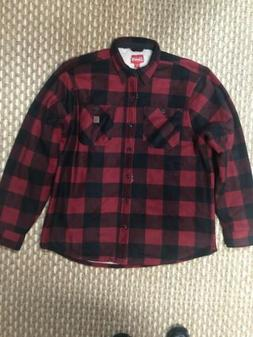 Coleman Classic-Fit Flannel Sherpa Lined  Plaid  Shirt Jacke