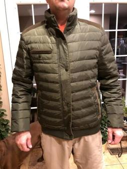 Clearance: Men's 90% filling down jacket green size S new wi