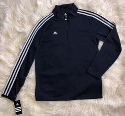 Adidas Climalite 1/4 Quarter Zip 3 Stripe Pullover Medium Me