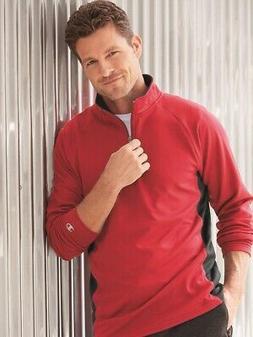 Champion - Colorblocked Performance Quarter-Zip Sweatshirt -