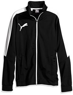 PUMA Men's Contrast Jacket, Black White, L