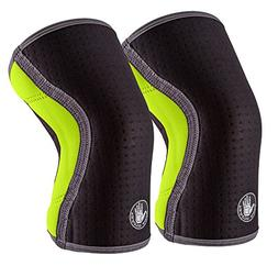 Body Glove Sport 5 Knee Sleeves - Moisture Wicking Breathabl