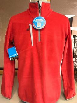 Columbia Crosslight Omni Heat Mens Half Zip Pullover Red Mul